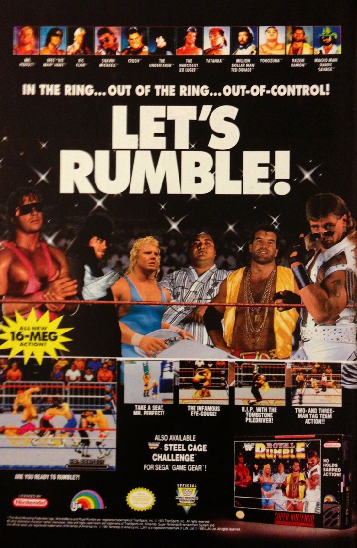 Royal Rumble for Super NES - 1993