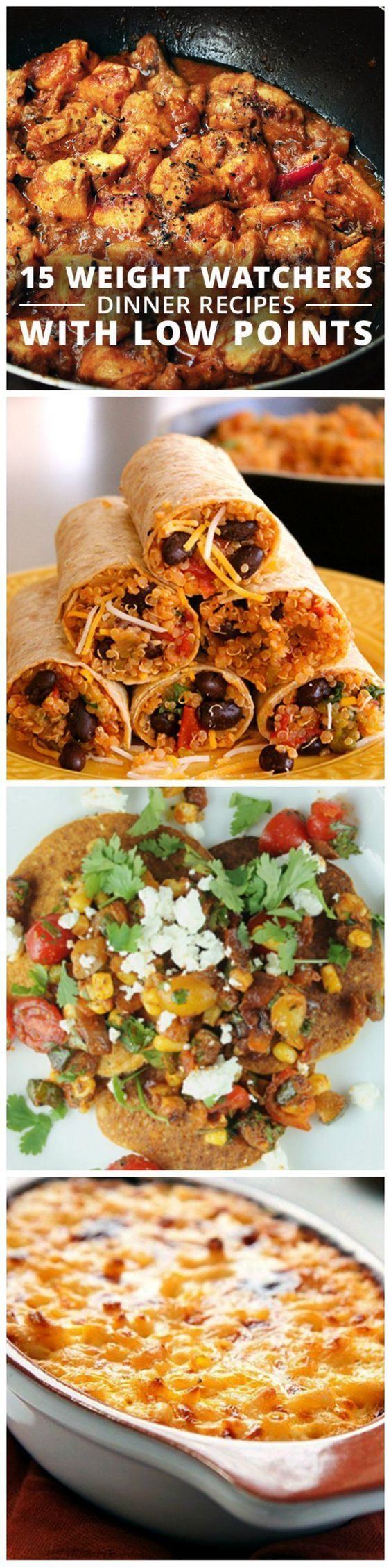 15 Weight Watchers Dinner Recipes with Low Points #weightwatchers #wwpoints #lowcalorie