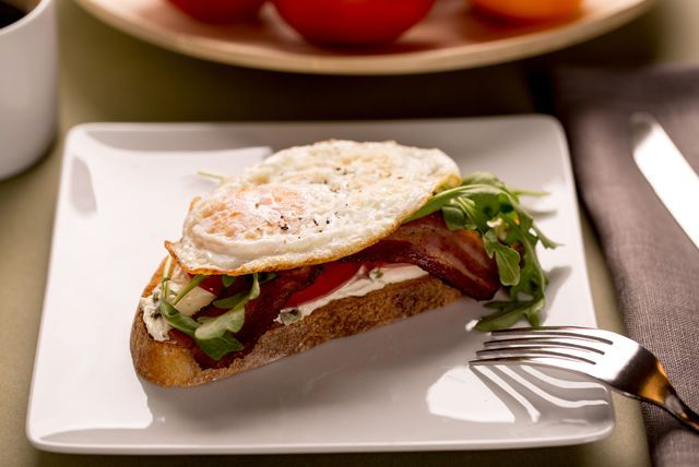 Who doesn't love a good BLT sandwich?  This one isn't just good...it's great!  Our Open-Face BLT sandwich recipe has the bacon, lettuce and tomato you would expect on a BLT, but it also has a fried egg!