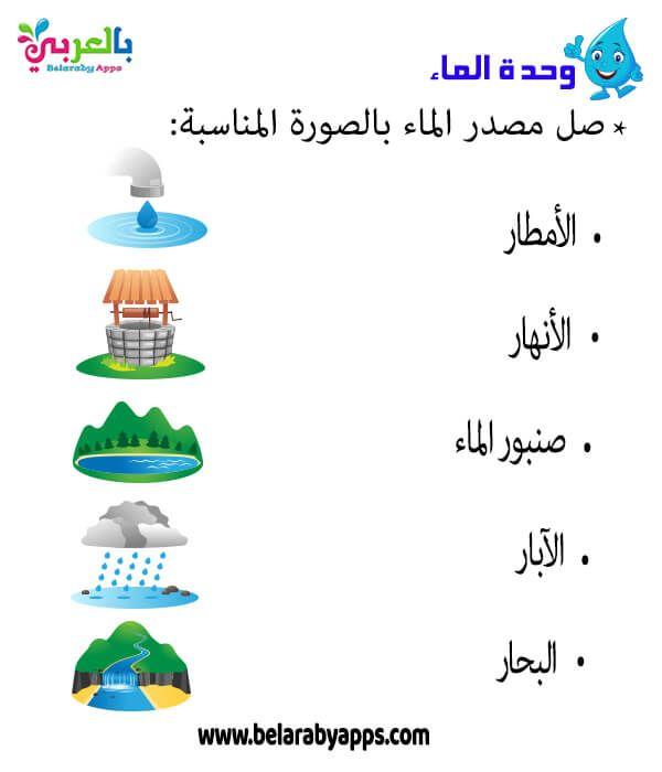 اوراق عمل عن وحدة الماء رياض اطفال Pdf تمارين إدراكية بالعربي نتعلم In 2021 Kids Learning Learning