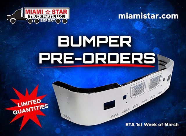 More bumpers are currently in production reserve yours today!!! Limited quantities available. Hidden Light Edition Bumpers get FREE LED lights and wire harness with purchase. In Stock by First Week of March 2018.  #freightlinerclassicxl #freightlinercolumbia #freightlinercascadia #freightliner #internationaltrucks #volvotrucks #volvovnl #kenworth #kenwortht660 #kenwortht600 #kenwortht800 #peterbilt #peterbilt387 #peterbilt379 #peterbilt378  Go to miamistar.com