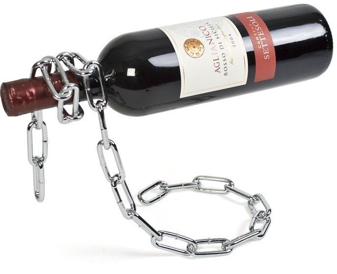 Łańcuchowy stojak na wino / Chain Floating Bottle Holder