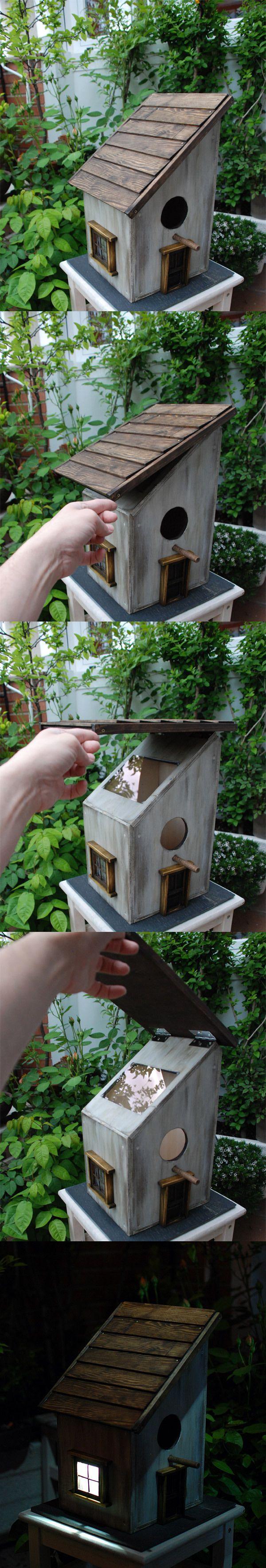 Solar Birdhouse with viewer by Gustavo Ramos Bustos, via Behance