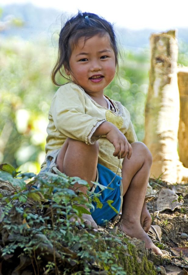 """Laotian Child  (^.^) Thanks, Pinterest Pinners, for stopping by, viewing, re-pinning,  following my boards.  Have a beautiful day! ^..^ and """"Feel free to share on Pinterest ^..^ #smiles #interestingtidbits"""