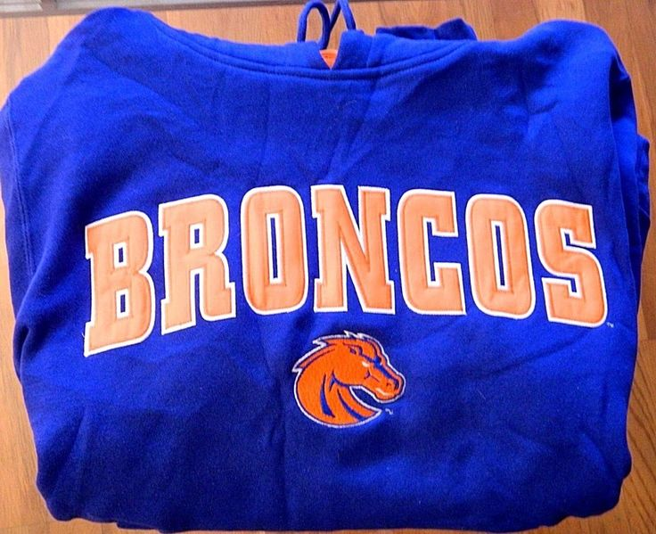 Men's Denver Broncos Football Hoodie Sweatshirt Champs Sports Blue Size M #Champs #DenverBroncos