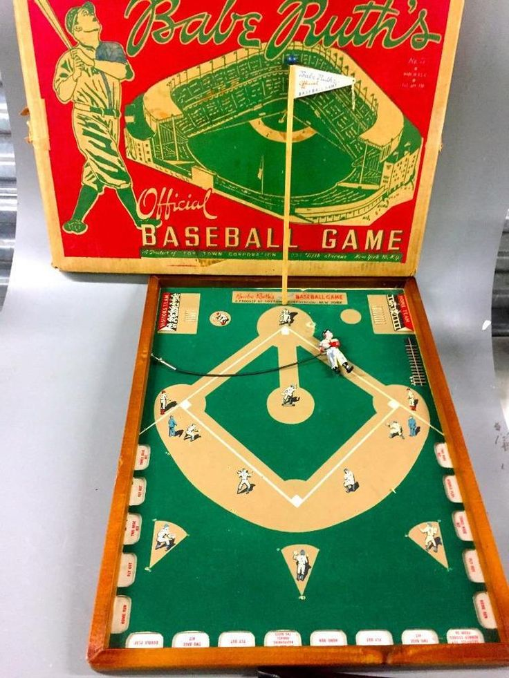 BABE RUTH'S 1940s Toy Town Official Babe Ruth Baseball Game~THE BAMBINO~BIG BAM