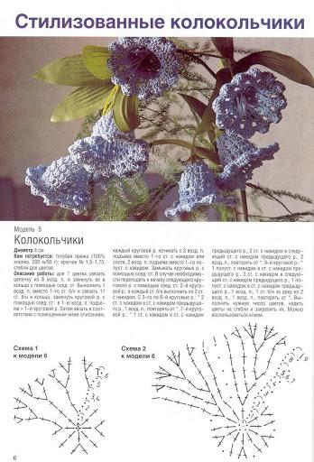 Crocheted bluebells