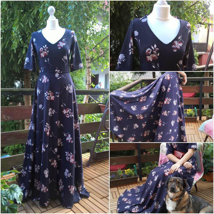 Summer evening dress, by Puffka&Sue