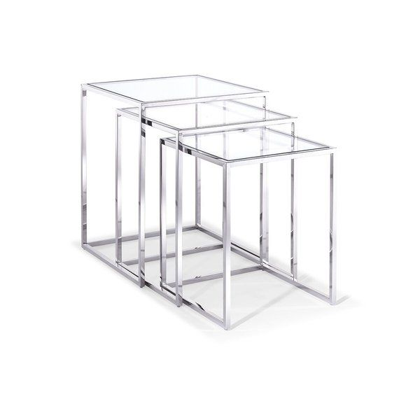 Enhance your unique living space with this contemporary side table. T.J. 3 Piece Nesting Tables size gives it the freedom to harmonize any room, with some added display space for your treasured photos or as a cozy place to rest.