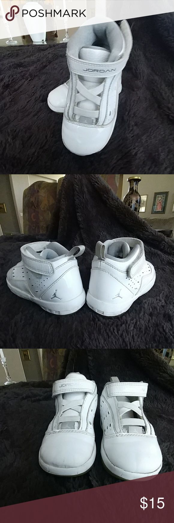 Toddler Jordan Shoes Michael Jordan toddler high top, Velcro strap closure Used condition with much more life in them. Michael Jordan Shoes Sneakers