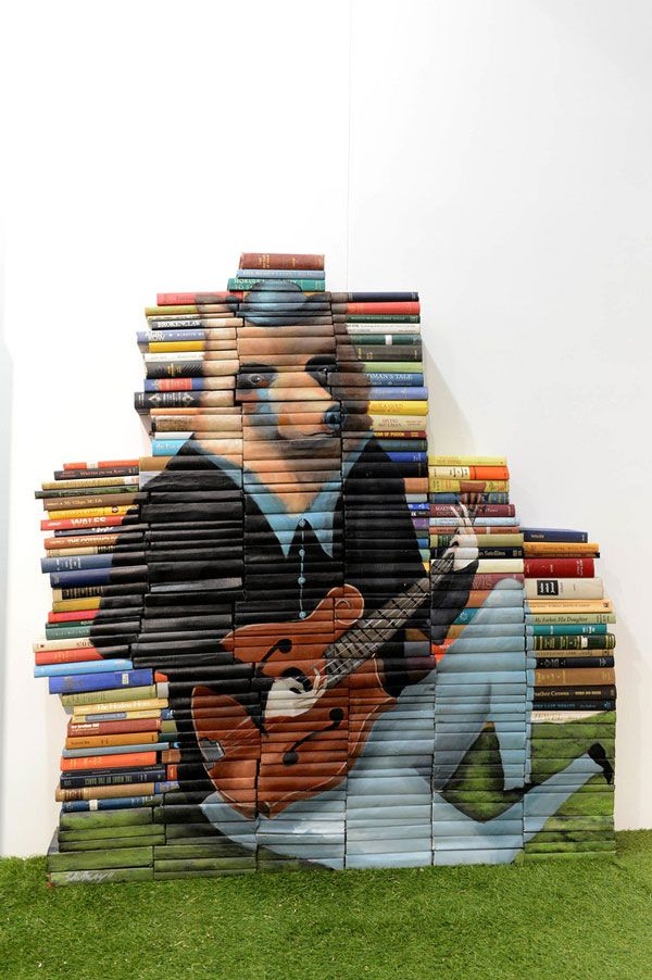Mike Stilkey's Wonderfully Whimsical Book Paintings