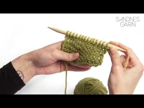 Sandnes Garn - Hvordan strikke glattstrikk - YouTube