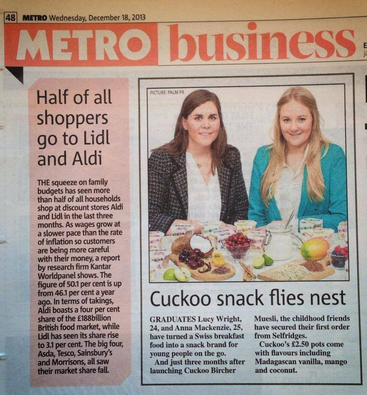 A feature on Cuckoo in the Metro