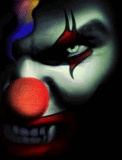 evil clown. goosebumps