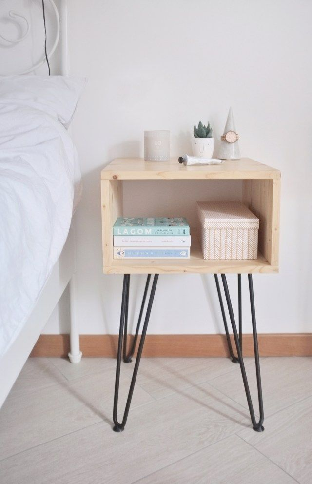 Diy How To Make A Scandinavian Style Nightstand With Hairpin Legs Scandinavian Style Bedroom Scandinavian Style Furniture Furniture Design Modern