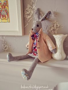 My version of Cool Crafting's Luna Lapin ... read about her here http://loulovesthis.blogspot.co.uk/2014/04/luna-lapin.html