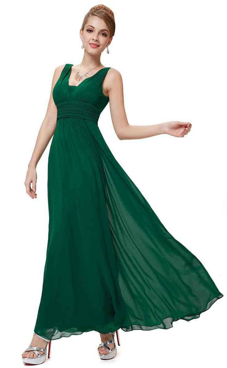 121 best green bridesmaids emerald sage pale green dresses simple floor length green bridesmaid dress features v back ombrellifo Choice Image