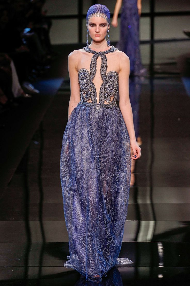 Sigrid Agren for Armani Privé Haute Couture spring 2014 collection