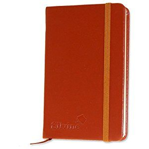 Silvine Executive Soft Feel Pocket Notebook Ruled with Marker Ribbon 160pp 90gsm 143x90mm Tan Ref 196T: Amazon.co.uk: Office Products