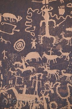 Petroglyphs at Newspaper Rock, Utah