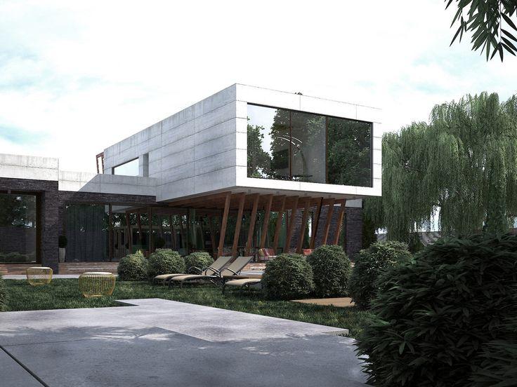 ДОМ - БЕТОН - Панорамные двери VEKASLIDE: новая архитектура пространства | PINWIN - конкурсы для архитекторов, дизайнеров, декораторов