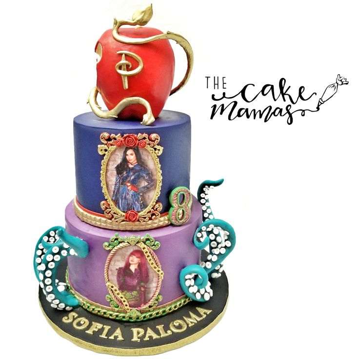 Disney's Descendants Birthday Cake! Call or email to place your cake order today! #descendants #disney #birthday #cake #party #celebration