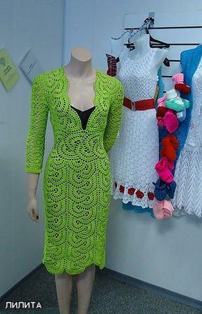 Fancy Crochet Dress. More Great Patterns Like This