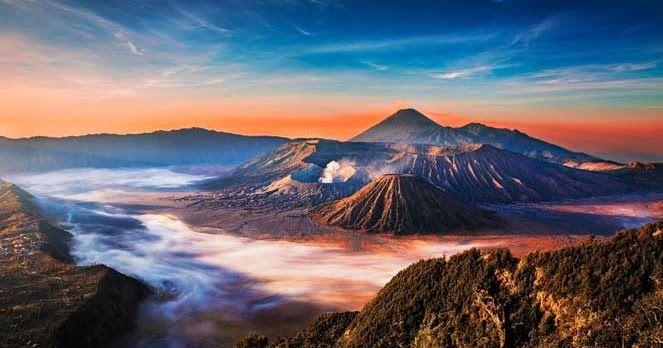 5 Gunung Berapi Paling Spektakuler Di Asia Yang Wajib Dikunjungi Pemandangan Pariwisata Gunung Berapi