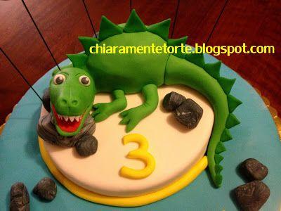 CHIARAmente...Torte!: Torta Dinosauro - Torta Drago Il compleanno di Samuele!
