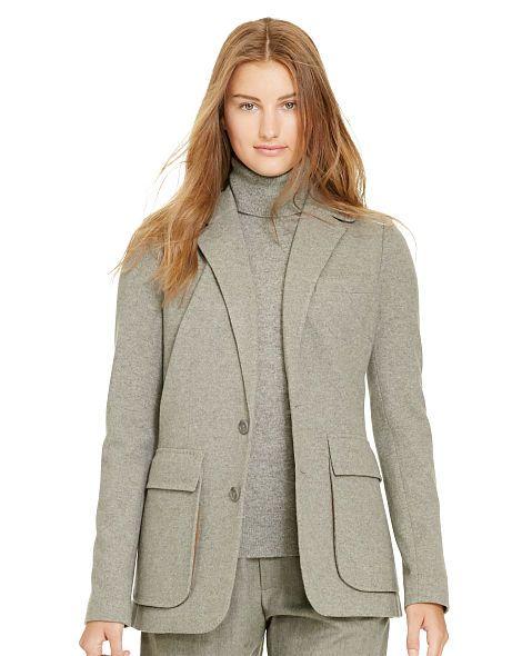 Flannel 2-Button Jacket - Polo Ralph Lauren Blazers - RalphLauren.com