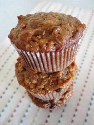 Morning Glory Muffins... carrots, coconut, apple, pineapple, nuts, and more