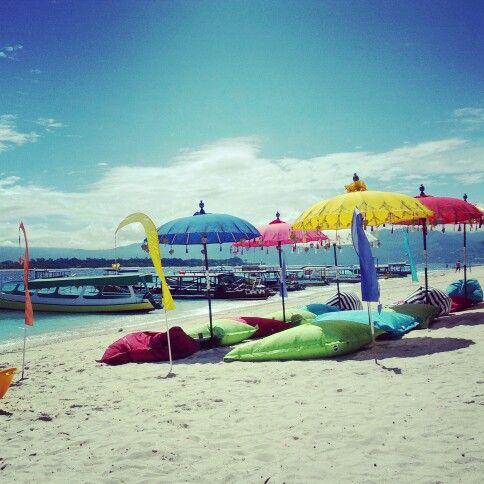 Rainbow at beach #lombok #indonesia
