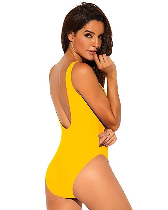 e002b3cd7a3 Funnygirl Women's Sexy Retro One Piece Swimsuit High Cut Backless Beach  Swimwear Bathing Suit at Amazon Women's Clothing store: