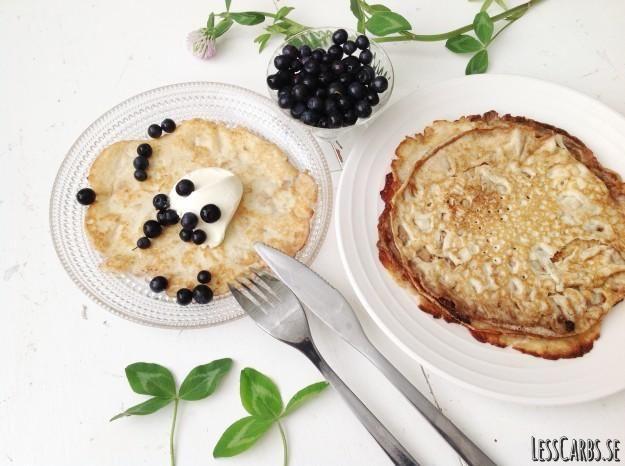 Recept: Mejerifria LCHF pannkakor
