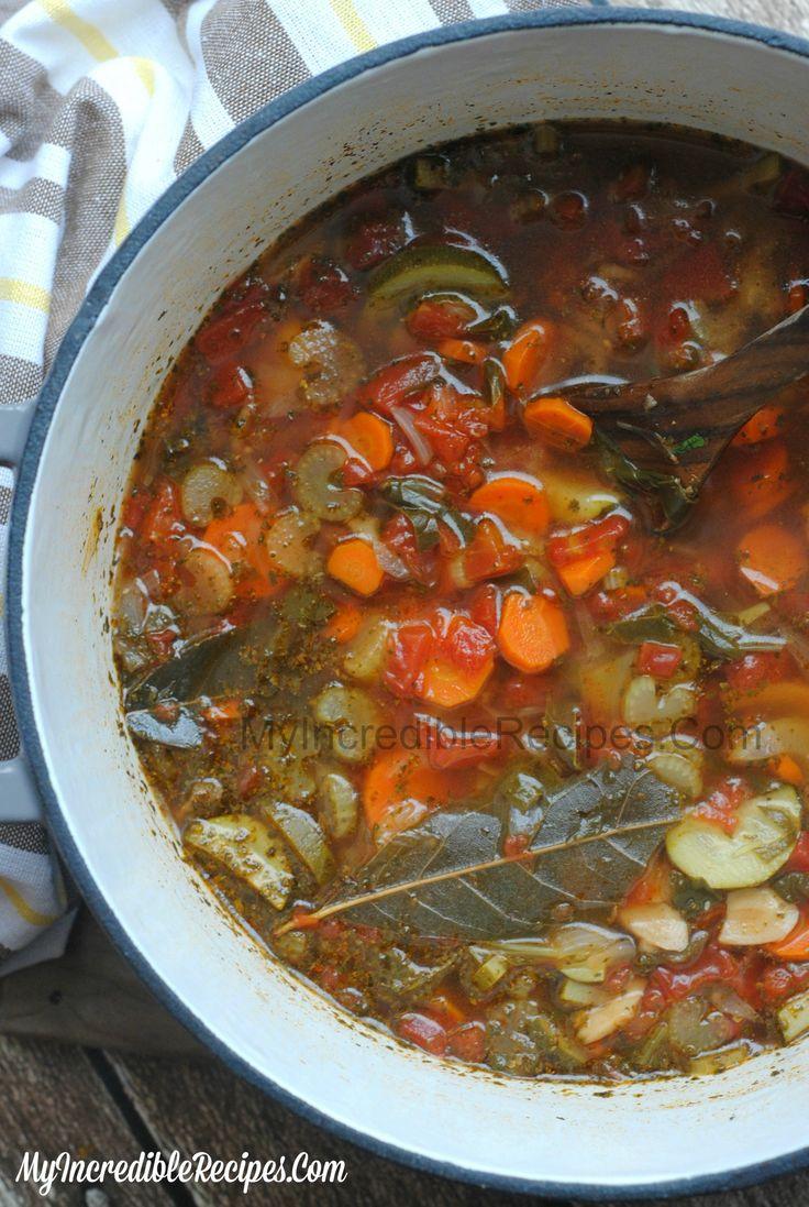 Delicious Fresh Homemade Crockpot Vegetable Soup