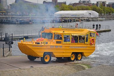 Duck boat tours, which use boats like these seen in London, could be coming to Chicago.