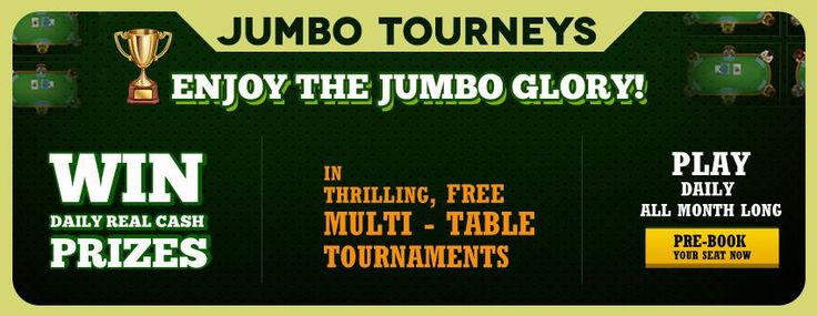 """We are pleased to announce registration has started for Jumbo Regular Free Tourneys(only for free players)   Jumbo Premium Free Tourneys (only for depositing players).   Entry is absolutely free.   Special prize of """" Rs.5000"""" for Jumbo Regular Free tourneys on SATURDAY and for Jumbo Premium Free Tourneys on SUNDAY!   Hurry, register now!  https://www.classicrummy.com/play-rummy?link_name=CR-12"""