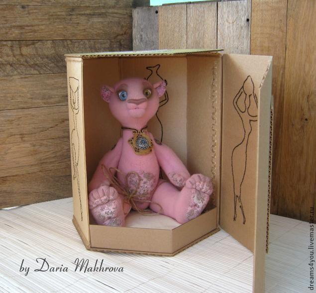 Шестигранная коробка с этническим декором своими руками - Ярмарка Мастеров - ручная работа, handmade