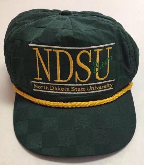 Vtg North Dakota State University Hat NDSU Bison Baseball Cap Split Bar Fargo ND | eBay