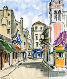 Corfu Town by Theresa Nicholas