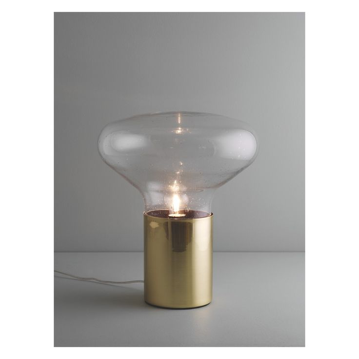 MARLOWE Bubble glass and metal touch table lamp
