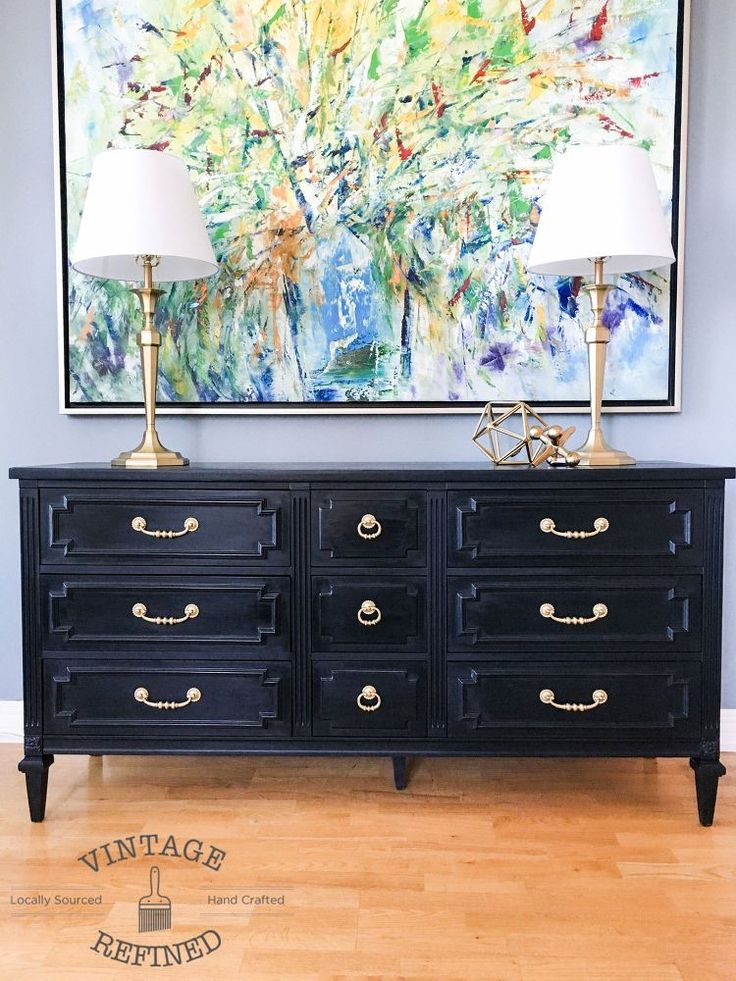 Chic+Black+Painted+Dresser