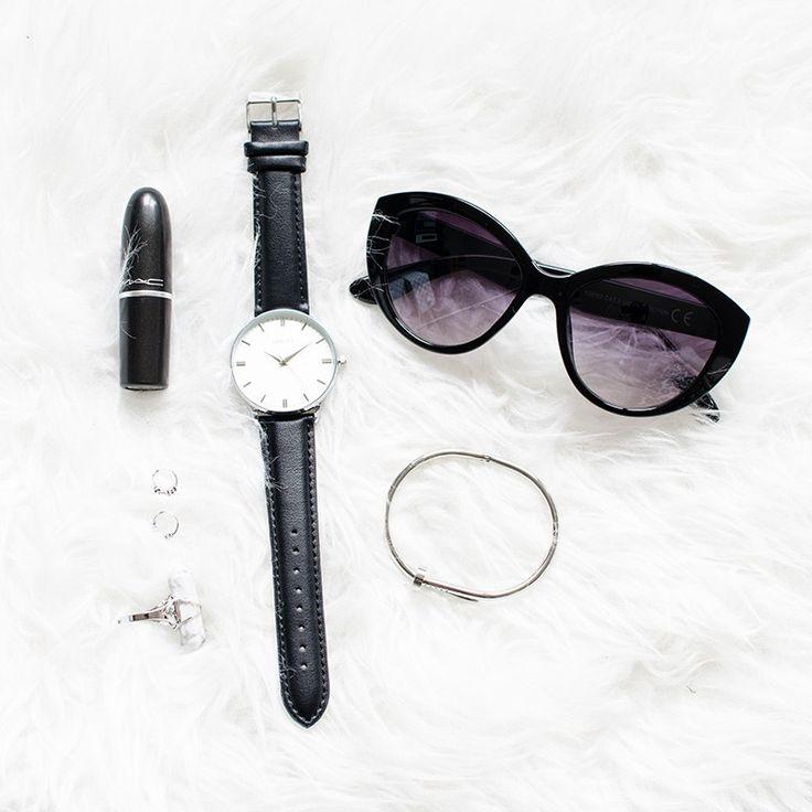 """Horloge """"Brooklyn"""" classic zilver"""