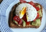 Avocado-Tomato Toast with a Poached Egg