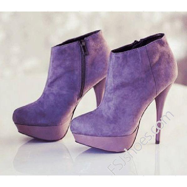 Viola Purple Ankle Boots