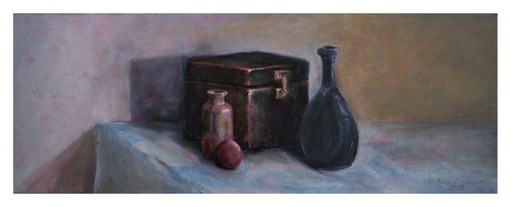 René van Wasbeek - Still life, oilpainting.
