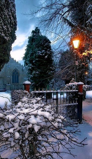 St Marys Church in the snow, Cottingham, East Yorkshire, England   by Paul Lakin