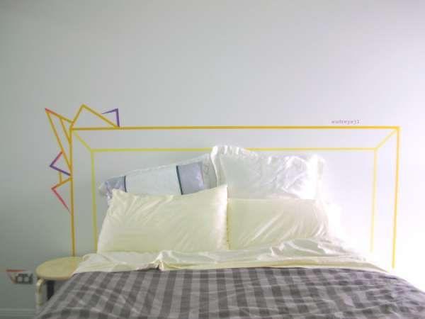 Tête de lit. 23 créations scotchantes avec du ruban washi