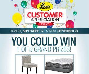 Win 1 of 5 Leon's Grand Prizes