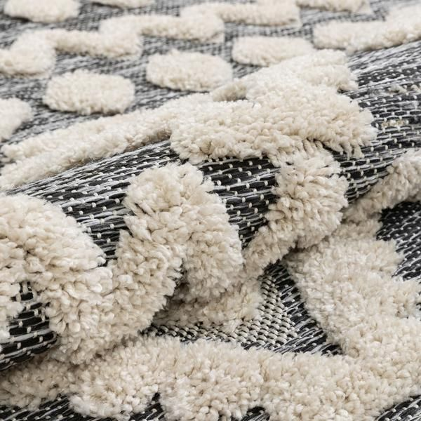 Chiara Tribal Moroccan Grey High Low Flat Weave Rug Well Woven Flat Weave Rug Rugs
